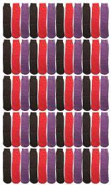 Yacht & Smith Women's Thermal Non-Slip Tube Socks, Gripper Bottom Socks 60 pack
