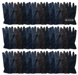 Yacht & Smith Men's Fleece Gloves 36 pack