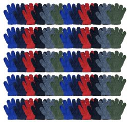 Yacht & Smith Kids Warm Winter Colorful Magic Stretch Gloves Ages 2-5 60 pack