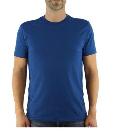 Mens Cotton Crew Neck Short Sleeve T-Shirts Royal Blue, X-Large 12 pack