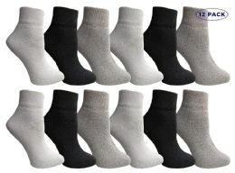 Yacht & Smith Mens & Womens Ankle Wholesale Bulk Pack Athletic Sports Socks, by SOCKS'NBULK (Womens 9-11 (Shoe size 5-10), 12 Pairs Mix) 12 pack