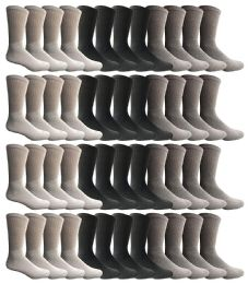 Wholesale Bulk Sport Cotton Unisex Crew Socks Value Deal Mens - Assorted Crew Size 10-13 60 pack