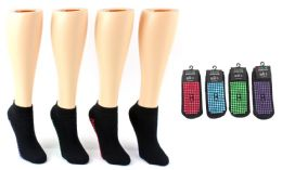 Boy's & Girl's Trampoline Non-Skid Grip Socks - Assorted Colors - Sizes 4-6 24 pack