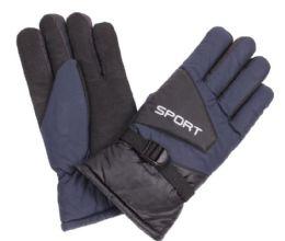 Men's Ski Glove With Velcro Strap 72 pack