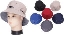 Men's Plain Assorted Color Bucket Hat 72 pack