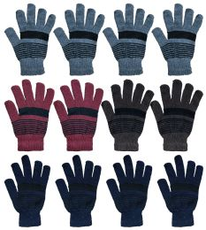 Yacht & Smith Winter Magic Gloves Warm Brushed Interior, Stretchy Assorted Colors 12 pack
