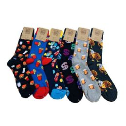 Fun Prints Assorted Crew Socks 10-13 24 pack