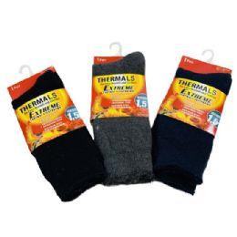 1 Pair Men's Extreme Thermal Crew Socks 10-13 24 pack