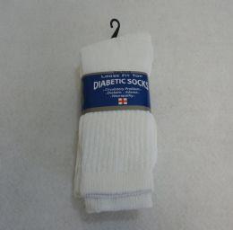 Diabetic Crew Socks 10-13 [White] 24 pack