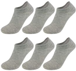 Yacht & Smith Unisex Kids NO-Show Ankle Socks Size 6-8 Gray Bulk Pack