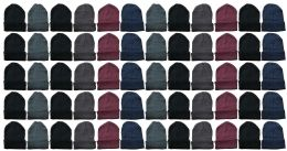 Yacht & Smith Unisex Winter Warm Acrylic Knit Hat Beanie 60 pack
