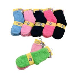 Child's Soft and Cozy Fuzzy Socks 10-12 48 pack