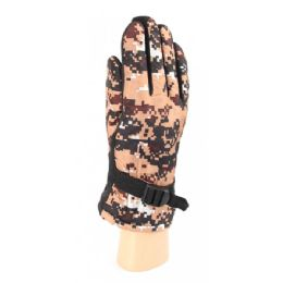 Adults Camouflage Ski Gloves With Fur Lined and Gripper Palm 36 pack