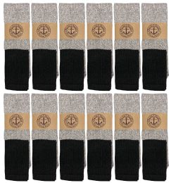 Yacht & Smith Mens Cotton Thermal Tube Socks, Cold Weather Boot Sock Shoe Size 8-12