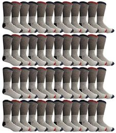 Yacht & Smith Womens Cotton Thermal Crew Socks , Warm Winter Boot Socks 9-11 48 pack