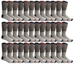 Yacht & Smith Womens Cotton Thermal Crew Socks, Cold Weather Boot Sock, Size 9-11 36 pack