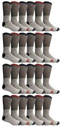 Yacht & Smith Womens Cotton Thermal Crew Socks, Cold Weather Boot Sock, Size 9-11 24 pack