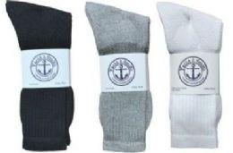 Yacht & Smith Men's Cotton Crew Socks Set Assorted Colors Black, White Gray Size 10-13