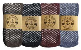 Yacht & Smith Non Slip Gripper Bottom Men's Winter Thermal Tube Socks Size 10-13 180 pack