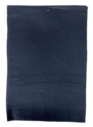 Yacht & Smith Solid Black Color Warm Winter Fleece Scarves Bulk Buy 144 pack