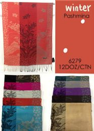 Winter Floral Pashmina Shawl 144 pack