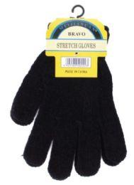 Unisex All Black Chenille Gloves 240 pack