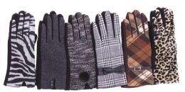 Women's Assorted Design Winter Gloves 72 pack