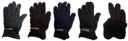 Fleece Solid Color Winter Gloves Assorted Colors 36 pack