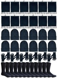 Yacht & Smith 48 Pack Wholesale Bulk Winter Thermal Beanies Skull Caps, Thermal Gloves Unisex (Womens 4Pc Combo A) 48 pack