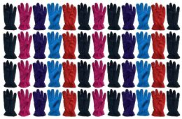 Yacht & Smith Value Pack Of Unisex Warm Winter Fleece Gloves, Many Colors, Mens Womens, One Size (48 Pack Woman) 48 pack