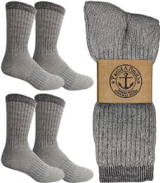 Yacht & Smith Merino Wool Socks for Hiking, Trail, Hunting, Winter, by SOCKS'NBULK (4 Pairs Gray B, Mens 10-13) 4 pack