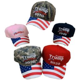President Trump 2020 Hat[Flag on Bill] Mesh Back 24 pack