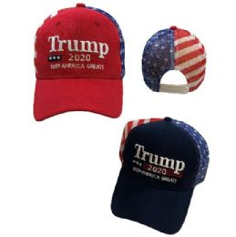 Trump 2020 Hat Keep America Great [Flag Mesh Back] 24 pack