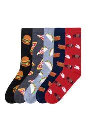 Men's Assorted Printed Food Crew Socks 180 pack
