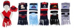 Kids 3 Piece Winter Set , Hat Glove Scarf Ages 5-10 36 pack