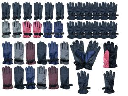 Yacht & Smith Mens Womens Kids Gripper Ski Glove Mix, Assorted Color Fleece Lining 216 pack