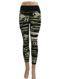 Yoga Pants Legging Marijuana Leaf Thigh Stripes 24 pack