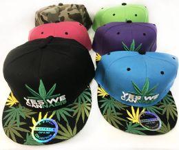 Snap Back Flat Bill Marijuana Yes We Cannabis Assorted 24 pack
