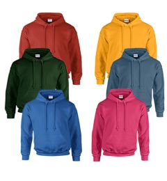 Gildan Unisex Mill Graded Irregular 2ND Hooded Pullover Sweat Shirts 24 pack