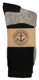 Yacht & Smith Mens Cotton Thermal Crew Socks, Cold Weather Boot Sock Shoe Size 8-12 120 pack