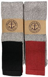 Yacht & Smith Mens Cotton Thermal Tube Socks, Cold Weather Boot Sock Shoe Size 8-12 Bulk Buy