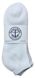 Yacht & Smith Men's No Show Ankle Socks, Cotton Size 10-13 White Bulk Buy