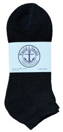 Yacht & Smith Men's No Show Ankle Socks, Cotton. Size 10-13 Black Bulk Buy