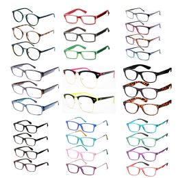 Assorted Colors And Power Lens Plastic Reading Glasses Bulk Buy 240 pack