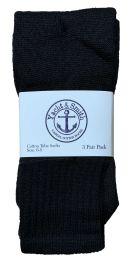 Yacht & Smith Kids Solid Tube Socks Size 6-8 Black Bulk Buy