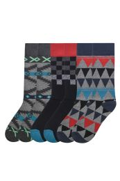 Men's Printed Novelty Crew Socks Size 10-13 120 pack