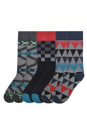 Men's Printed Novelty Crew Socks Size 10-13 120 pack
