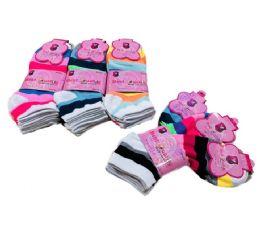 Ladies/Teen Anklets 9-11 [Wide Stripes] 60 pack