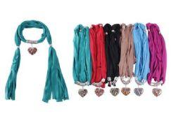 Ladies Pendant Fashion Scarf 72 pack