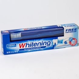 Toothpaste W/brush 6.4oz Whitening Boxed 24 pack